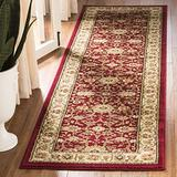 """Safavieh Lyndhurst Collection LNH212F Traditional Oriental Non-Shedding Stain Resistant Living Room Bedroom Runner, 2'3"""" x 12' , Red / Ivory"""