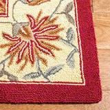 """Safavieh Chelsea Collection HK141C Hand-Hooked French Country Wool Accent Rug, 1'8"""" x 2'6"""", Red"""