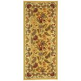 """Safavieh Chelsea Collection HK141A Hand-Hooked French Country Wool Runner, 2'6"""" x 8' , Ivory"""