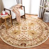 Safavieh Anatolia Collection AN540A Handmade Traditional Oriental Premium Wool Area Rug, 4' x 4' Round, Ivory