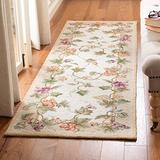 Safavieh Chelsea Collection HK116A Hand-Hooked French Country Wool Runner, 3' x 10' , Ivory