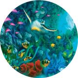 """Jigsaw Puzzle Round 500 Pieces 18.25"""" Diameter-Seascapes-Jewels Of The Sea"""