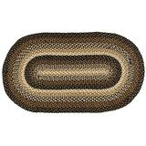"""IHF Home Decor Stallion Oval Jute Braided Area Rug Floor Carpet Collection (36""""x60"""")"""