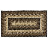 """IHF Home Decor Stallion Rectangle Accent Braided Area Rug   Natural Jute Material Handmade Floor Carpet   Black, Mustard, Cream Woven Collection (36""""x60"""")"""