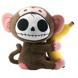 SUMMIT COLLECTION Furrybones Monkey Munky Holding onto Banana Plush Doll