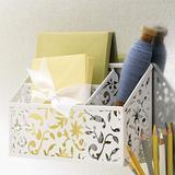 Design Ideas Vinea Magnetic Divided Bin, White
