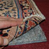 7'x10' No-Muv Non Slip Rug on Carpet Pad - Includes Rug and Pad Care Guide