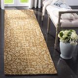 "Safavieh Antiquity Collection AT411A Handmade Traditional Oriental Premium Wool Runner, 2'3"" x 16' , Gold / Beige"