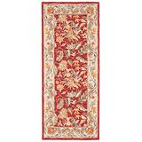 """Safavieh Chelsea Collection HK141B Hand-Hooked French Country Wool Runner, 2'6"""" x 6' , Black"""