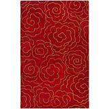 Safavieh Soho Collection SOH812A Handmade Premium Wool & Viscose Area Rug, 5' x 8', Red