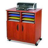 Safco Products Mobile Machine Stand with Sorter, Cherry