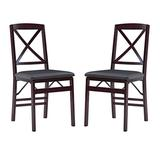 Linon Triena X Back Folding Chair Set of 2
