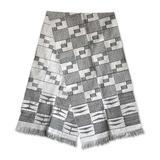 Cotton kente scarf, 'Net'