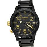 Nixon 51-30 Tide Matte Black/Gold Watch A057-1041