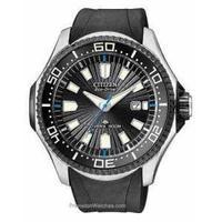 Citizen Mens Eco-Drive Promaster Diver Black Dial Black Rubber Strap BN0085-01E