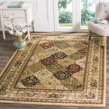 Safavieh Lyndhurst Collection LNH221C Traditional Oriental Non-Shedding Stain Resistant Living Room Bedroom Area Rug, 6' x 6' Square, Multi / Beige