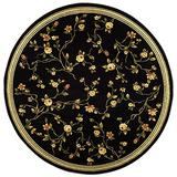 Safavieh Lyndhurst Collection LNH220A Traditional Floral Non-Shedding Stain Resistant Living Room Bedroom Area Rug, 8' x 8' Round, Black
