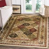 """Safavieh Lyndhurst Collection LNH221A Traditional Oriental Non-Shedding Stain Resistant Living Room Bedroom Area Rug, 3'3"""" x 5'3"""", Multi / Ivory"""