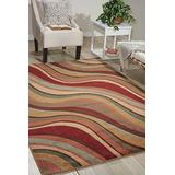 """Nourison Somerset Multicolor Rectangle Area Rug, 3-Feet 6-Inches by 5-Feet 6-Inches (3'6"""" x 5'6"""")"""
