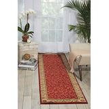 """Nourison Somerset Red Runner Area Rug, 2-Feet 3-Inches by 8-Feet (2'3"""" x 8')"""