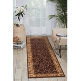 """Nourison Somerset Brown Runner Area Rug, 2-Feet 3-Inches by 8-Feet (2'3"""" x 8')"""