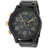 Nixon 51-30 Chrono Matte Black/Gold Men's Underwater Stainless Steel Watch (51mm. Black & Gold Face/Matte Black Stainless Steel Band)