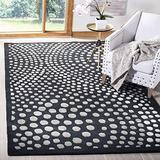 "Safavieh Soho Collection SOH654A Handmade Abstract Premium Wool & Viscose Area Rug, 3'6"" x 5'6"", Dark Grey"