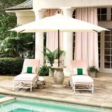 Rectangular Patio Umbrella Canvas Azure Sunbrella - Ballard Designs