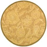 """Safavieh Chelsea Collection HK156A Hand-Hooked French Country Wool Accent Rug, 1'8"""" x 2'6"""", Light Brown"""