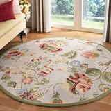 """Safavieh Chelsea Collection HK331C Hand-Hooked French Country Wool Area Rug, 5'6"""" x 5'6"""" Round, Sage"""