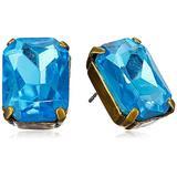 Sorrelli Everyday Emerald-Cut Stud Earrings, Antique Gold-Tone Finish, Tropical