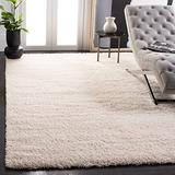 SAFAVIEH California Premium Shag Collection SG151 Non-Shedding Living Room Bedroom Dining Room Entryway Plush 2-inch Thick Area Rug, 8' x 10', Ivory
