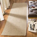 """Safavieh Braided Collection BRD173A Handmade Country Cottage Reversible Cotton Runner, 2'3"""" x 8' , Beige / Brown"""