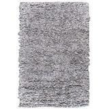 """Safavieh Leather Shag Collection LSG511C Hand-Knotted Modern Leather Runner, 2'3"""" x 6' , White"""