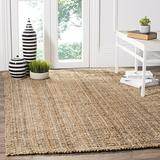 Safavieh Natural Fiber Collection NF447A Handmade Chunky Textured Premium Jute 0.75-inch Thick Area Rug, 4' x 6', Natural