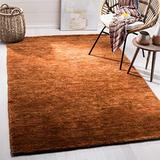 Safavieh Bohemian Collection BOH211C Hand-Knotted Jute Area Rug, 9' x 12', Rust