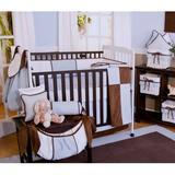 Brandee Danielle Blue Chocolate 4 Piece Crib Bedding Set Cotton Blend in Brown   Wayfair 1864PBC