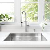 "Blanco Precision 32"" L x 18"" W Undermount Kitchen Sink Stainless Steel in Gray, Size 10.0 H x 32.0 W x 18.0 D in | Wayfair 515823"