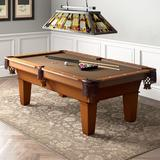 """Fat Cat Fat Cat Frisco 7.5' Pool Table w/ Accessories, Wool/Polyester/Solid Wood in Light Stain, Size 31""""H X 50""""W X 89""""D 