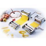 CucinaPro Pasta Fresh Series Manual Pasta Maker w/ 3 Attachments Metal, Size 8.0 H x 6.0 W x 7.75 D in   Wayfair S178