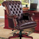 Wildon Home® Dana Executive Chair Upholstered in Brown, Size 42.5 H x 29.5 W x 29.5 D in | Wayfair 911253