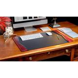 Dacasso 7000 Series Contemporary Style Side-Rail Desk Pad Leather in Black, Size 0.5 H x 25.5 W x 17.25 D in | Wayfair P7002