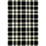 Dash and Albert Rugs Plaid Cotton/Ecru Area Rug Cotton in Black, Size 144.0 H x 108.0 W x 0.25 D in   Wayfair RDA036-912