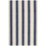 Dash and Albert Rugs Striped Handwoven Cotton Classic Blue/Ivory Area Rug Cotton in Blue/White, Size 144.0 H x 108.0 W x 0.25 D in   Wayfair