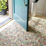Dash and Albert Rugs Cat's Paw Geometric Handmade Hooked Wool Area Rug Wool in Green, Size 96.0 H x 48.0 W x 0.5 D in   Wayfair RDA150-58
