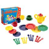 """Educational Insights kids 25 Piece Dish Play Set, Plastic in Red/Blue/Yellow, Size 3.75"""" L x 9.5"""" W x 7.5"""" H 