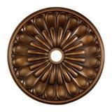 "Elk Lighting Melon Reed Ceiling Medallion Finish: Antique Brass, Metal in Antique Brass/White/Copper, Size 25"" - 36"" | Wayfair M1009AB"