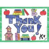 Top Notch Teacher Products Thank You Postcard, Size 4.3 H x 6.0 W x 0.4 D in | Wayfair TOP5104