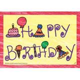 Top Notch Teacher Products Happy Birthday Postcard, Size 4.2 H x 6.0 W x 0.3 D in | Wayfair TOP5106