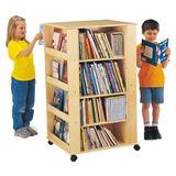 Jonti-Craft® Double Sided Shelving Unit w/ Wheels Wood in Brown, Size 46.5 H x 24.0 W x 27.0 D in | Wayfair 0539JC